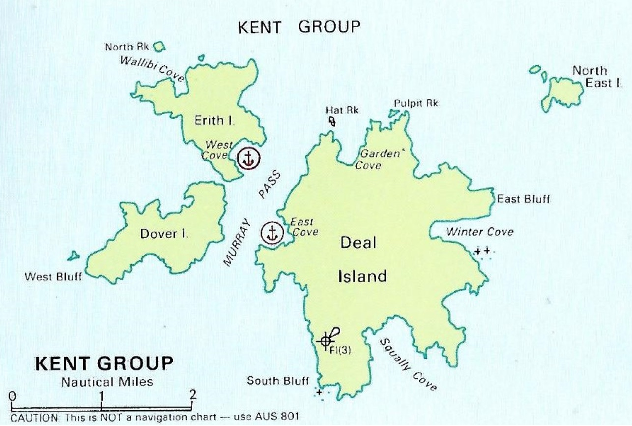 Deal island part of the Kent Group