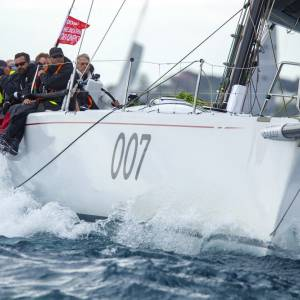 Extasea on record pace in the Melbourne to Devonport Yacht Race